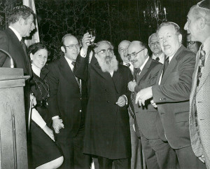 Robert Abrams with bronx rabbis
